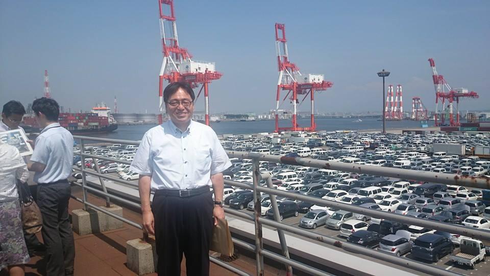 大阪港湾の視察